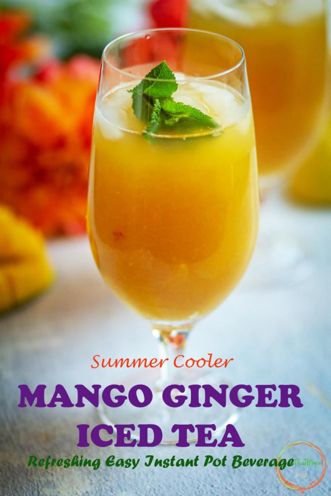 MANGO GINGER ICED TEA